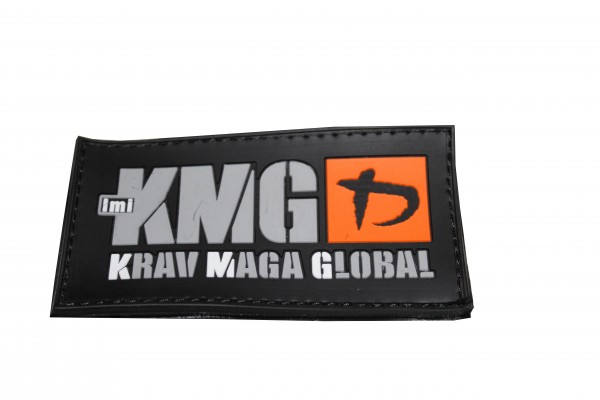 Krav Maga Global Rubber Patch Logo Silber / Orange