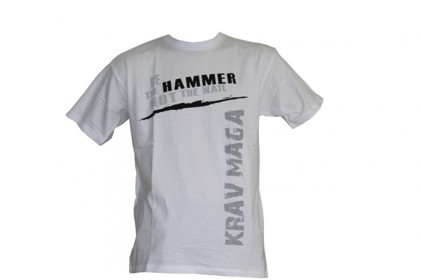 L2F T-Shirt Krav Maga Be the hammer Waggerecht