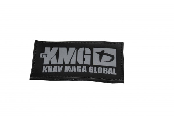 Krav Maga Global Rubber Patch Logo Silber